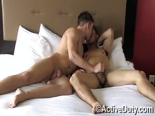 Dan tightlacing Bryce - Free Gay Porn on the brink of Activeduty - vid 109364