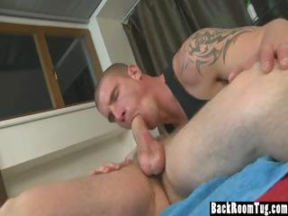 Hunky Masseuse Fucks