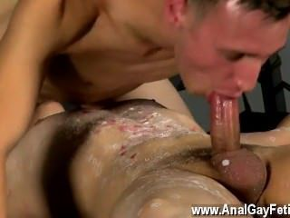 Gay guy deep throats hardcore Poor Cristian Made To Cum
