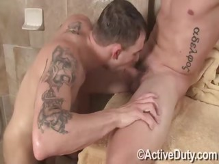 Dalton too Sawyer - Free Gay Porn close upon Activeduty - clip 129527