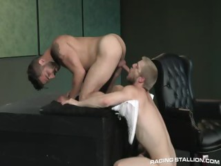 Logan Stevens in conjunction with Adam Ramzi - Free Gay Porn nigh on Ragingstallion - vid 128618