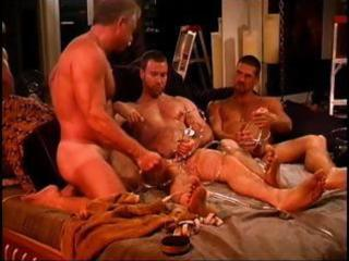 gay lads get into three-some sick pang and joy for their dicks