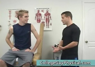 cute homosexual dude comes to the doctor homosexual porno