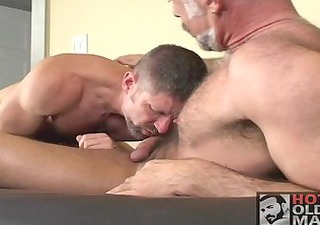 hot older muscle bear act