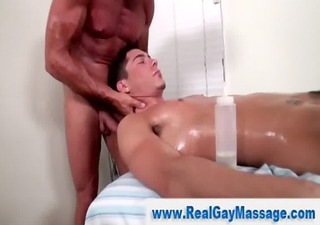 homo masseuse hunk throat copulates straighty