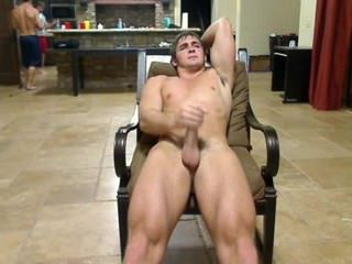 Jerking off in company with friends