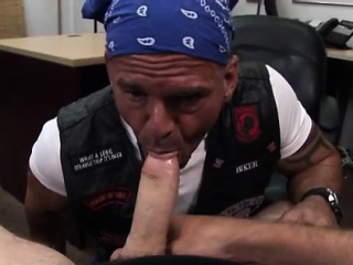 Emo hunk gay porn Some tough looking biker dude came into th
