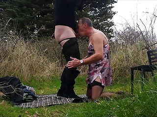 Crossdressing Outdoor sex