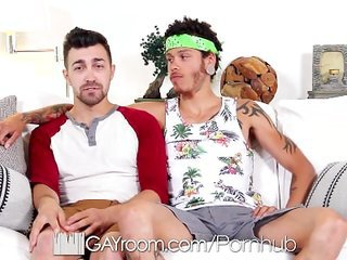 GayRoom - Charles Grey Takes at all TEN INCHES of Jay Fines Monster Cock