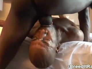 bareback, black, blowjob, bodybuilder, creampie