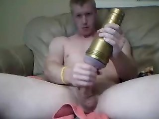 Hot Boy Fucks His Fleshlight,Finger Ass And Cums On Cam
