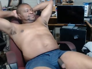 Sexy Smooth Daddy is Stroking