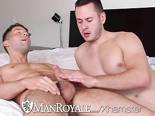 HD ManRoyale - Anal beads and fleshlight make cute guys cum