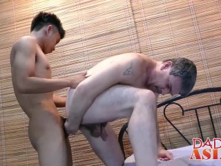 asian, bareback, blowjob, daddy, homosexual
