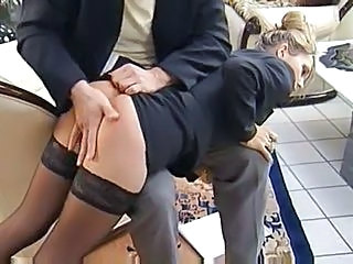 Secretary Spanking Stockings