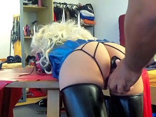 Ass Blonde Dildo Latex