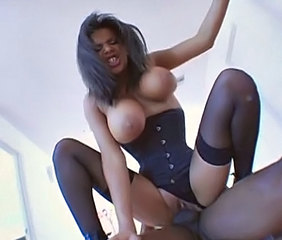 Amazing Big Tits Corset Hardcore Latina Pornstar Riding Stockings