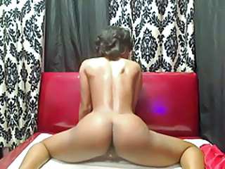 Ass Ebony Masturbating Solo Webcam