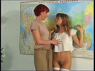Hairy Russian School Stockings Teacher