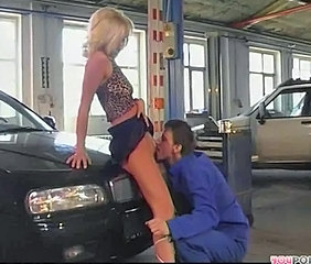 Babe Car Clothed Licking