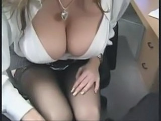 Big Tits Natural Office Secretary Stockings