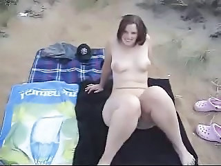 Amateur Beach Chubby Girlfriend Nudist Outdoor