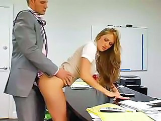Babe Clothed Doggystyle Office Secretary