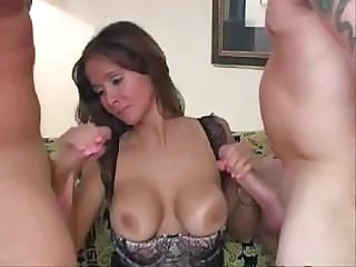 Big Tits Blowjob Stockings Threesome