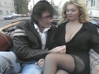 Big Tits European Public Stockings