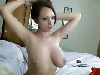 Amazing Big Tits Cute Girlfriend Natural Webcam