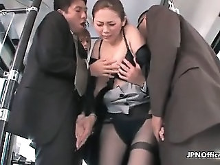 Asian Bus Gangbang Public