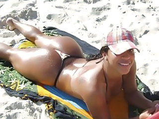 Ass Beach Bikini Girlfriend Latina Outdoor Panty