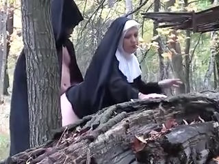 Clothed Doggystyle Nun Outdoor Smoking Uniform