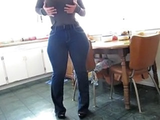 Amateur Dancing Homemade Jeans