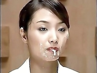 Asian Babe Bukkake Cumshot Facial Swallow