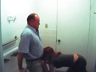 Blowjob Clothed Daddy HiddenCam Secretary Toilet Voyeur