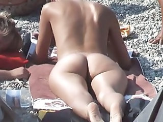 Ass Beach Nudist Outdoor Voyeur