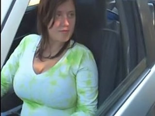 Amateur Big Tits Car Chubby Girlfriend Natural Outdoor