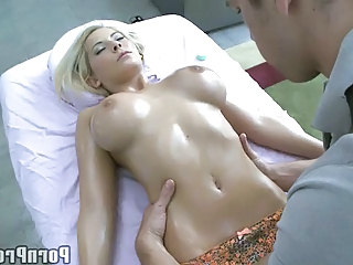 Amazing Big Tits Massage Oiled Pornstar