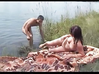 Amateur Beach Chubby Girlfriend Natural Outdoor