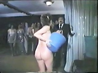Funny Nudist Party Vintage