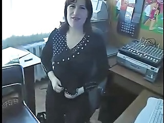 Amateur Office Secretary Stripper
