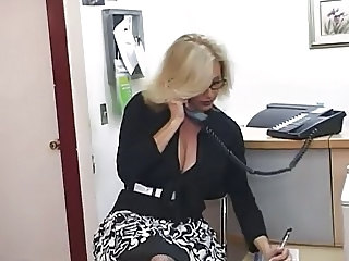 Big Tits Blonde  Office Secretary