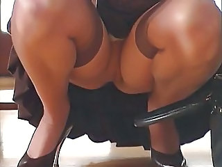 Secretary Stockings Upskirt