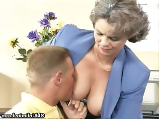 Mature Mom Office Old and Young Secretary