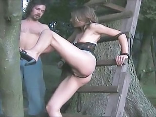 Amateur Bondage Daddy Outdoor