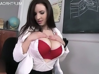 Babe Big Tits Brunette Cute Lingerie  School Teacher