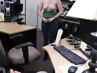 Amateur Cash Office Stripper