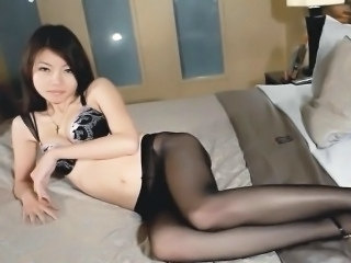Asian Babe Cute Korean Lingerie Pantyhose