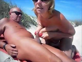 Amateur Beach Big Tits Mature Nudist Older Outdoor Small cock Tits job Wife